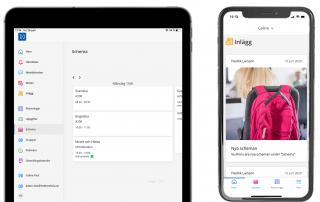 Haldors app i mobil och padda