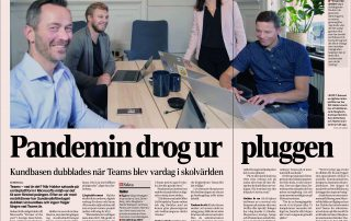 Artikel om Haldor i Dagens Industri