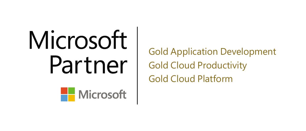 En logotyp för Microsoft Gold partner